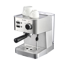 BARSETTO 15Bar Pressure Coffee Machine stainless steel household espresso coffee maker-EU Plug 1050W