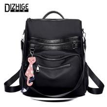 DIZHIGE Brand Backpack Women Black Oxford School Bags For Teenagers Girls Waterproof Nylon High Quality Travel Backpack Female