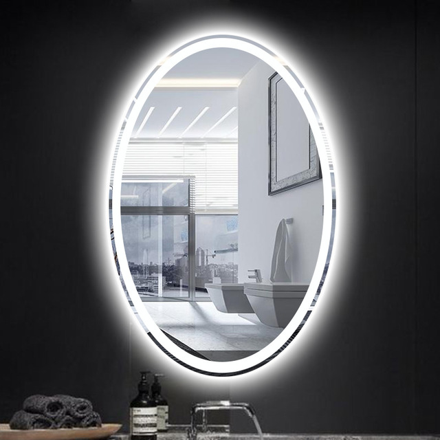 Dressing room Led Oval Wall lamp Mirror Light with Touch switch hotel room Makeup Led Mirror Bathroom Led Wall Sconce fixtures
