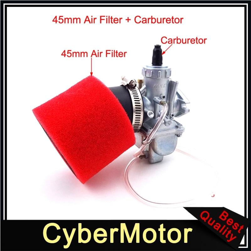 Filtre à Air de carburateur de Carb 45mm de carburateur de Molkt 26mm pour le moteur chinois de 140cc 150cc 160cc