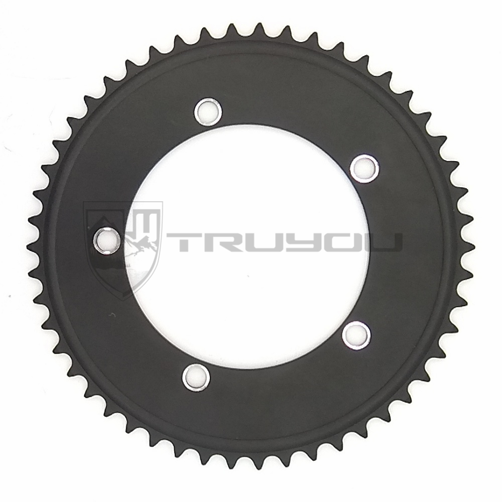 TRUYOU Bicycle Gears Chainring 130 BCD Single Speed Chain Ring Fixie Road Track Bike Gear Chainwheel 44T 46T 48T 50T 52T 53TTRUYOU Bicycle Gears Chainring 130 BCD Single Speed Chain Ring Fixie Road Track Bike Gear Chainwheel 44T 46T 48T 50T 52T 53T