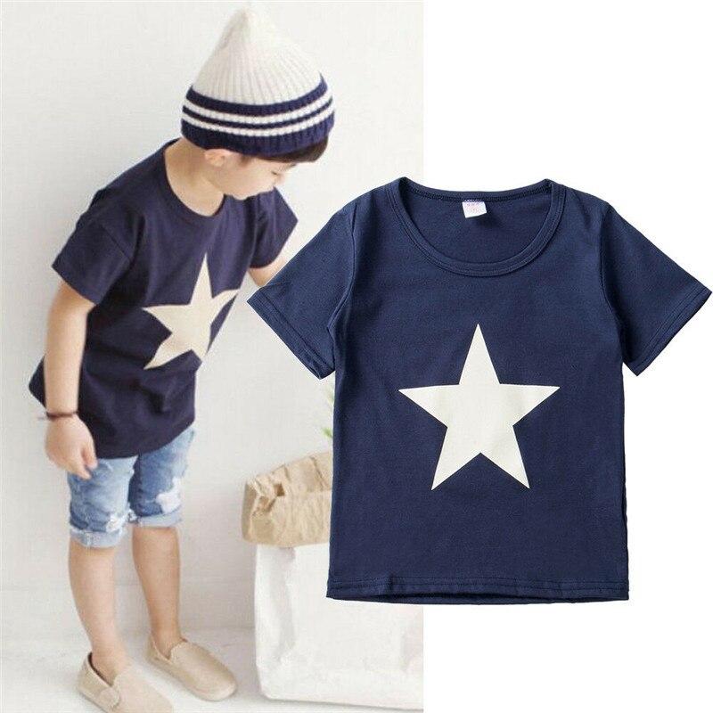 Children Tie Dye Short Sleeve T-shirt Toddler Kids Boys Summer Festival Tee Tops