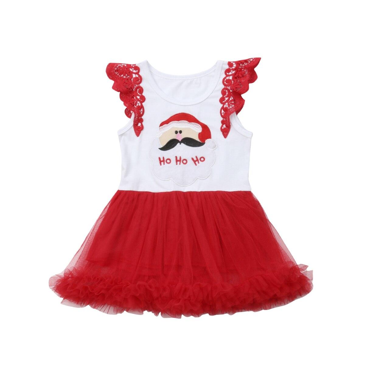Toddler Kids Baby Girls Dress Sleeveless Cartoon Santa