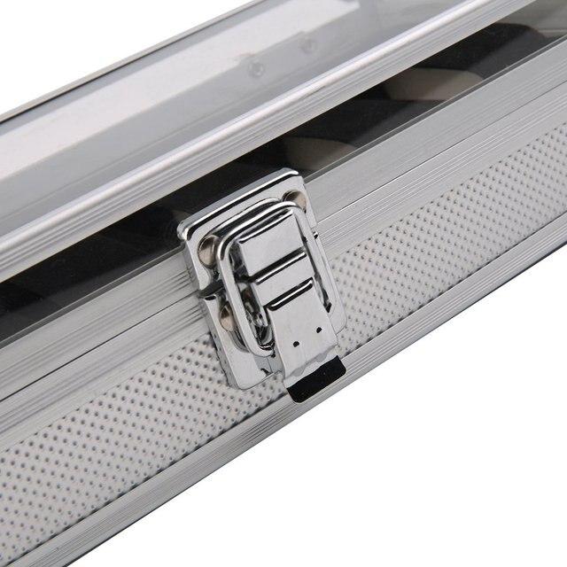 6 grille/fente montre boîte affichage en aluminium boîte à bijoux bijoux boîte de rangement boîtier décoratif