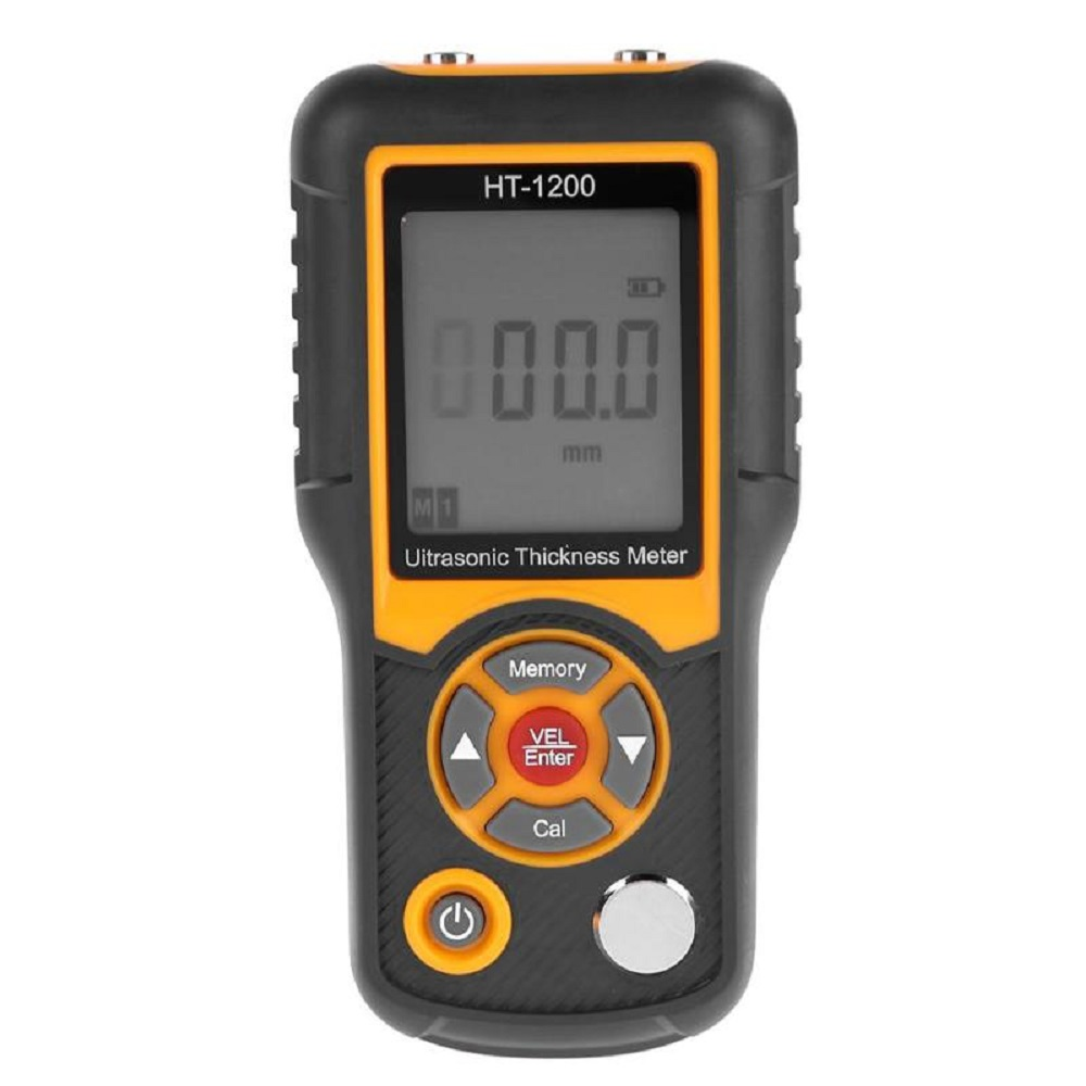 HT-1200 Ultrasonic Thickness Gauge Meter Steel Thickness Tester 1.2-225mm Range 0.1mm Resolution Four-digit LCD DisplayHT-1200 Ultrasonic Thickness Gauge Meter Steel Thickness Tester 1.2-225mm Range 0.1mm Resolution Four-digit LCD Display