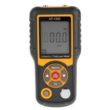 HT-1200 Ultrasonic Thickness Gauge Meter Steel Thickness Tester 1.2-225mm Range 0.1mm Resolution Four-digit LCD Display