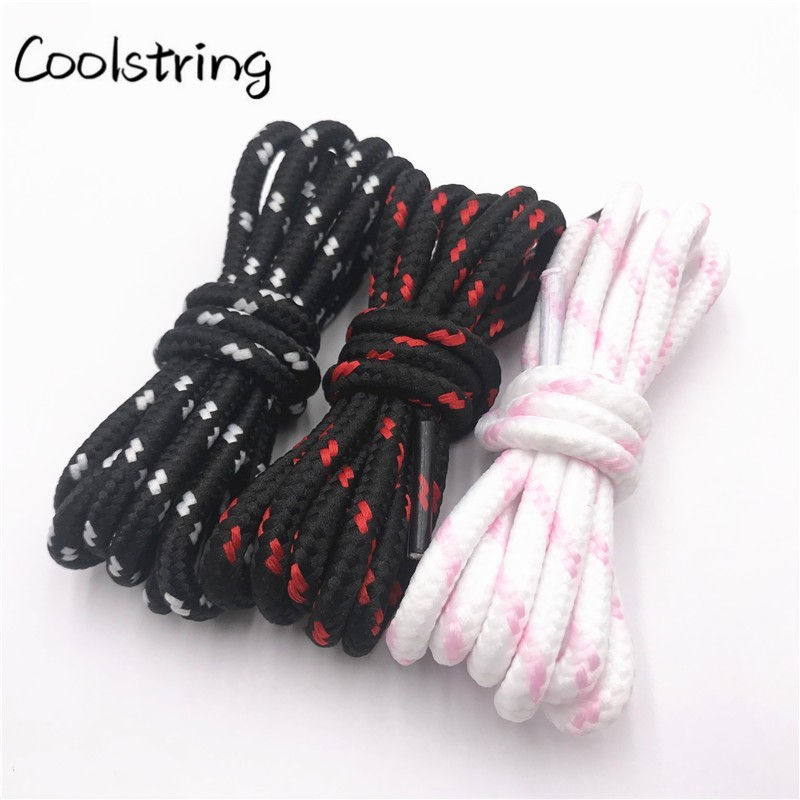 Coolstring 0.45cm Outdoor Unisex Casual Round Striped Sports Shoelace With Dots Bootlaces Shoestrings For Dorky Dad Shoes Laces
