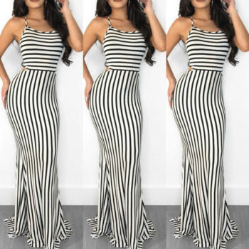 Nautical Stripe Maxi Dress 1