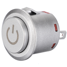 цена на 1 pc 12V Push Button Switch Led Light Power Symbol Push Button Momentary Latching Computer Case Switch 1NO 1NC