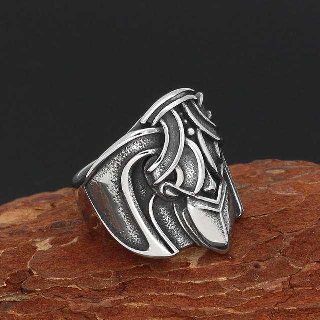 STAINLESS STEEL NORSE VIKING WICCAN RAVEN RING