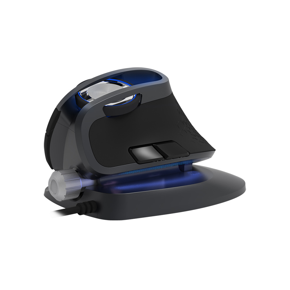 Delux M618X Wired Ergonomic Vertical Mouse Gaming Computer 6D Mice 1200 1600 3200 DPI USB RGB