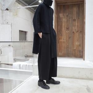Image 2 - [EAM] 2020 New Spring Autumn High Collar Long Sleeve Black Irregular Stitch Big Size Long Knitting Sweater Women Fashion JL734