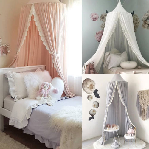 Hot Baby Bed Crib Canopy Netting Bedcover Mosquito Net Curtain Bedding Dome Tent