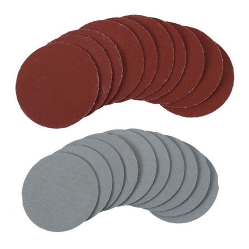100Pcs 2/'/' 50mm Mixed Sander Sanding Discs 80-3000 Grit Pads Hook Loop Sandpaper