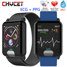 Chycet Smart Bracelet ECG PPG Blood Pressure Measurement Watch Women Heart Rate Monitor Fitness Band With Activity Tracker