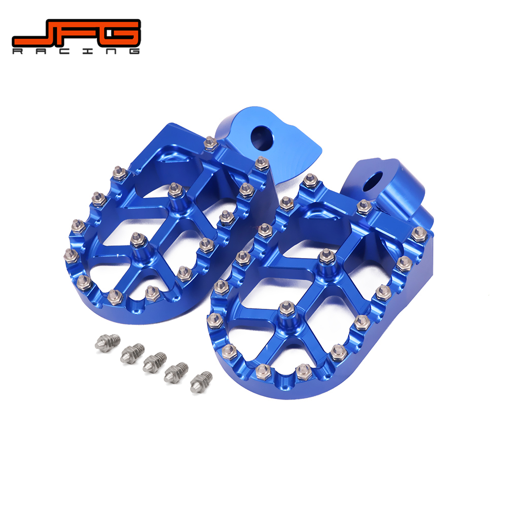 Motorcycle Aluminum FootRest Foot Pegs Footpegs Pedals For Husqvarna CR SM SMR TC TE TXC WR 50 100 150 250 350 450 550 610 99-13