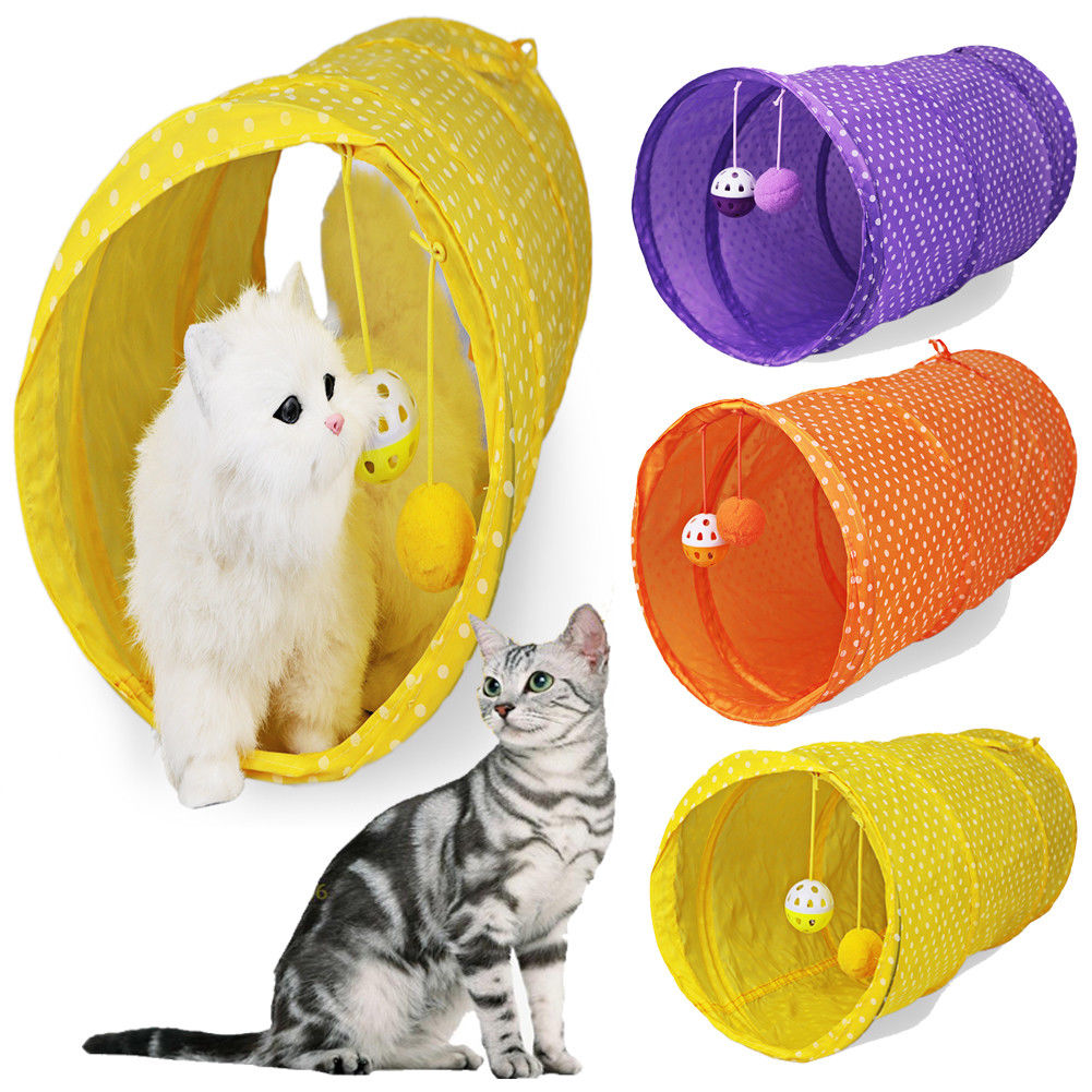 New Pet Cat Foldable Tunnel Kitten Toy Rabbit Playing Tube Pet Cat Tunnel Toy