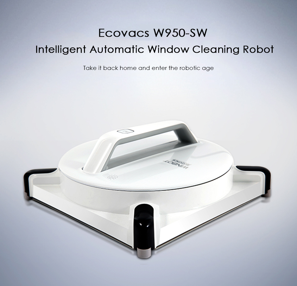 Ecovacs W950 - SW Intelligent Window Cleaning Robot Strong Suction Power Smart Drive Lower than 62dB Noise Sweeping the windowEcovacs W950 - SW Intelligent Window Cleaning Robot Strong Suction Power Smart Drive Lower than 62dB Noise Sweeping the window