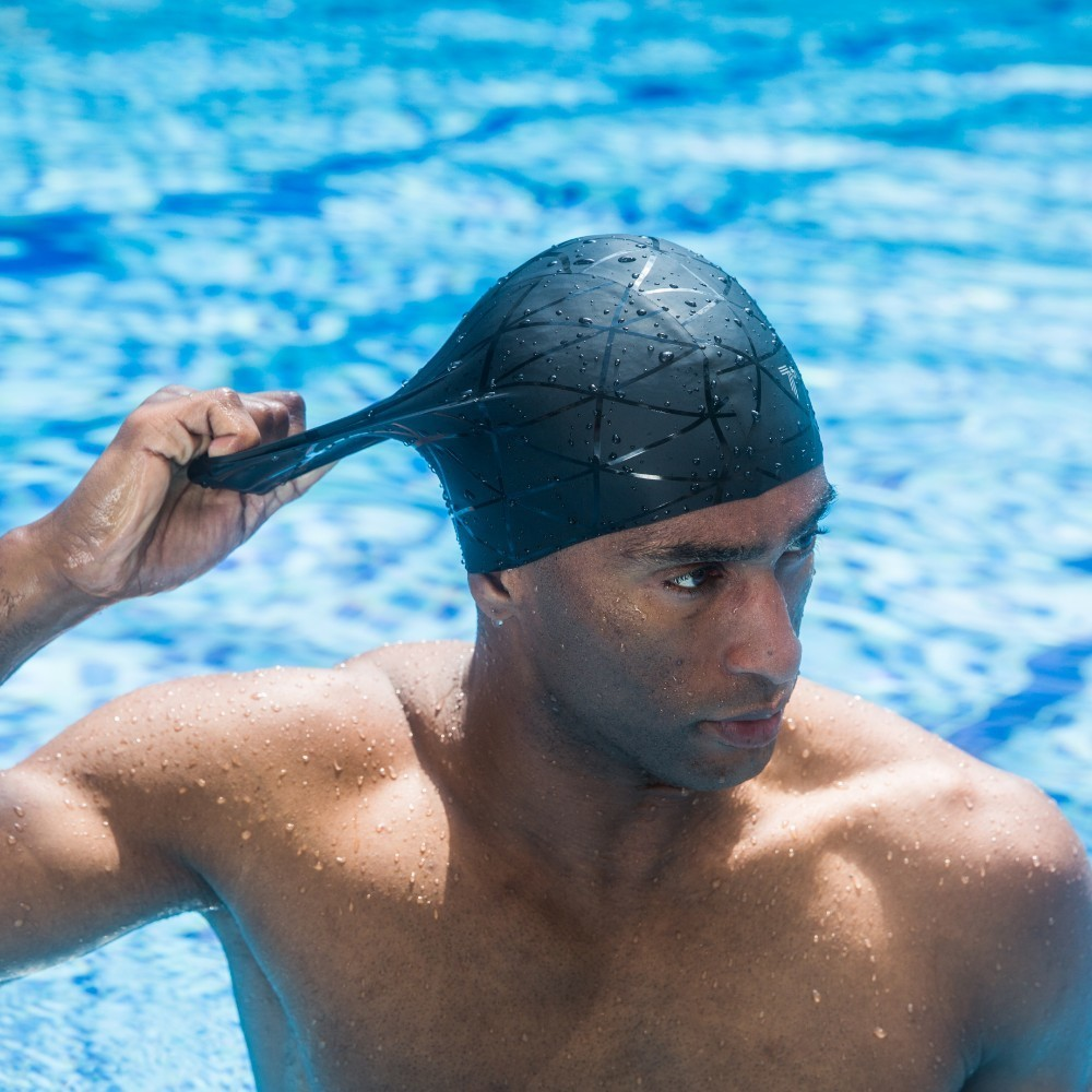 Elastic Silicon Rubber Waterproof Protect Ears Long Hair Sports Swim Pool Hat Free size Swimming Cap for Men Women Adults
