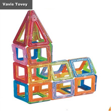 Vavis Tovey Childrens DIY magnetic piece toy Boy and girl puzzle spelling assembling building blocks set