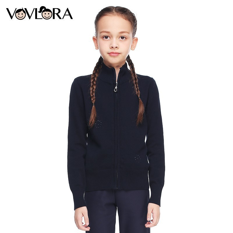 Girls Sweater Turtleneck Knitted Long Sleeve Kids Clothes Autumn 2018 Casual Children School Uniform Size 8 10 12 13 15 Year