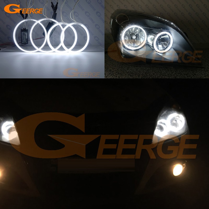 For OPEL Astra H 2004 2005 2006 2007 pro-Facelift Halogen forlygte Fremragende Ultra lys CCFL Angel Eyes kit halo ringe