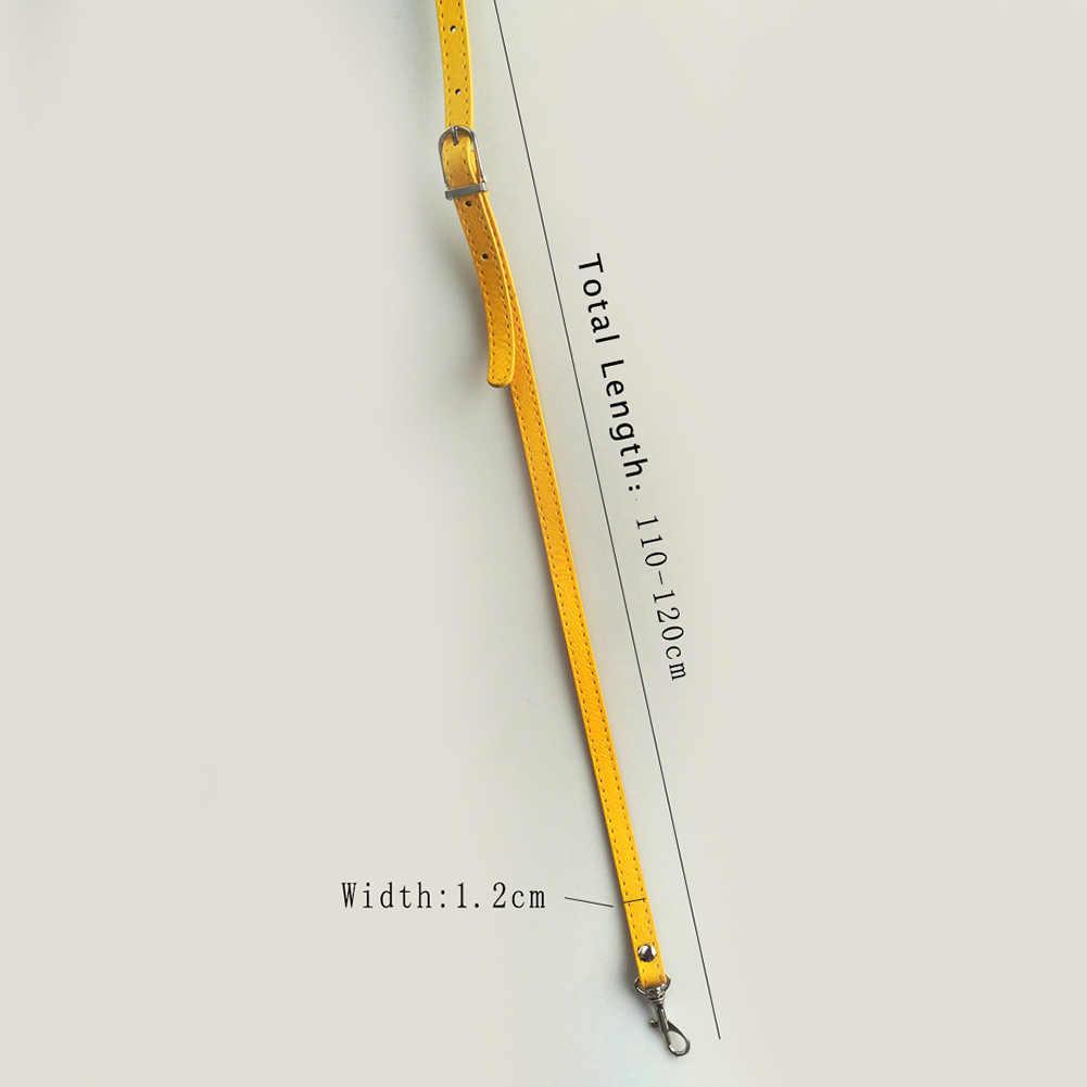 120 centímetros de Couro PU Bolsa de Ombro Cinta Fina DIY Saco de Acessórios de Cinto de Cor Sólida Colorido Cinta Crossbody Ajustável