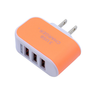 Image 2 - EU/US Plug Wall Charger Station 3 Port USB Charge Charger Travel AC Power Chargers Adapter for Huawei Xiaomi iPhone Dropshopping