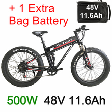 26 Inch Bike Tyre Fat Electric Mountain Bike Electric 350 W / 500 W Engine Of 48 V Lithium Battery 30ah Battery Available Double special price 26 inches of lithium battery electric bicycle beach rental winter motorcycle 350 w 500 w mountain bike batter