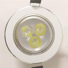 3W LED Ceiling Lights Recessed downlight Spot lamp Aluminum AC85-265V Luces de techo Luci di soffitto del led  Lampy sufitowe цена 2017
