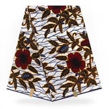 Африканские Восковые принты ткань хлопок воск настоящие, из Анкары настоящая ткань воск настоящий гарантированный настоящий голландский воск 6 ярдов
