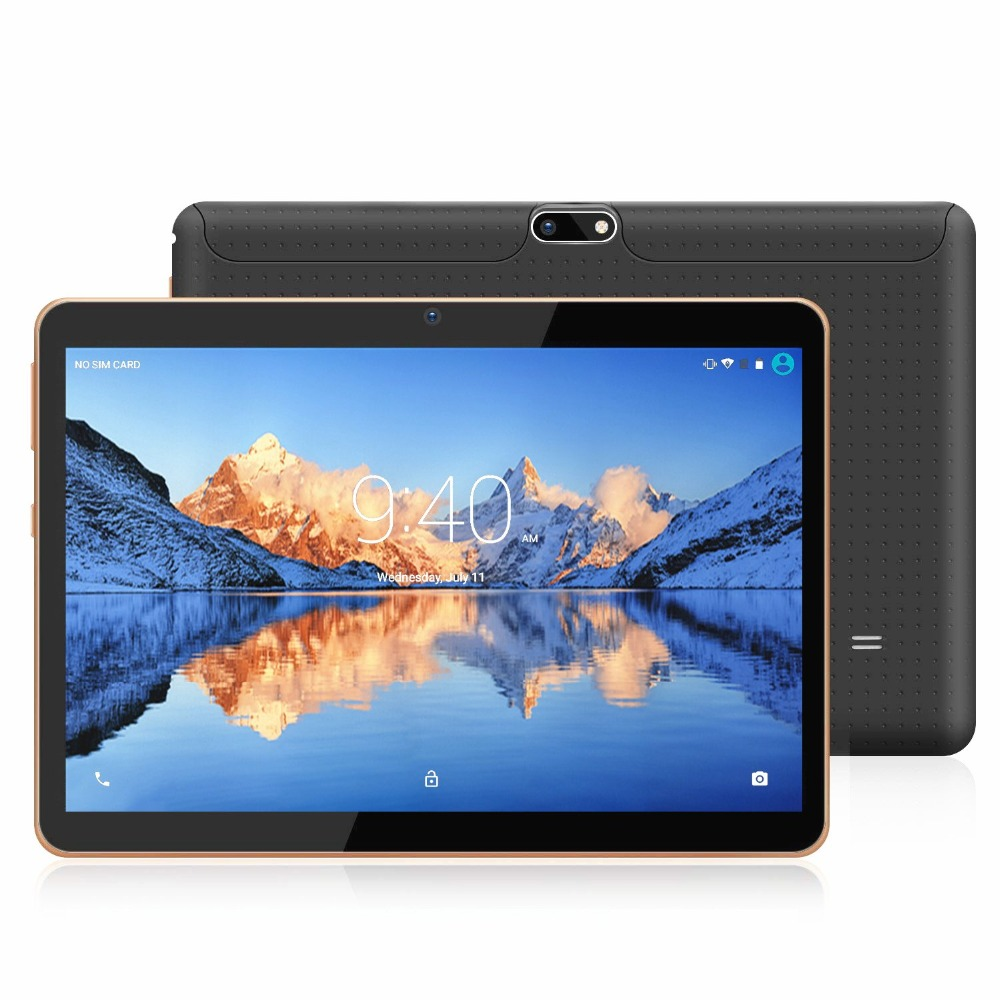 ZONNYOU Tablet 10.1 Inch Quad Core Android 7.0 3G WCDMA Smartphone Tablets 32GB\64GB ROM 1280*800 IPS WIFI Bluetooth GPS Mini Pc