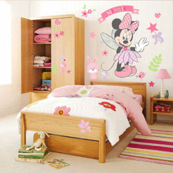 DIY Minnie Mouse Wall Stickers Vinyl Decals Kids Girls Nursery Baby Room Decor