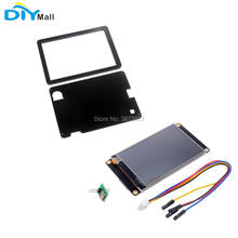 Nextion Enhanced 5.0 NX8048K050 800x480 Resistive Touch Screen HMI UART Display Module Black Case for Arduino Raspberry Pi nextion 4 3 tft 480x272 nx4827t043 hmi resistive touch screen uart smart display module for arduino raspberry pi esp8266