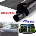50X100 см 20% VLT рулон черный дом автомобиль внедорожник боковое окно стекло тонировка пленка анти-УФ - фото