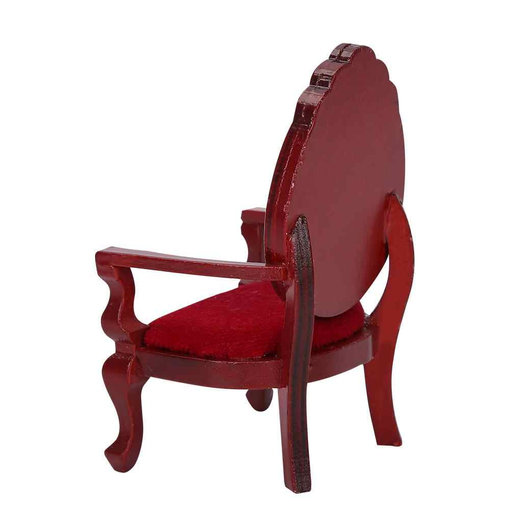 Кукольный домик Миниатюрный винтажный деревянный резной обеденный стул лаконичный стиль стул мебель кукольный дом украшения аксессуары игрушки