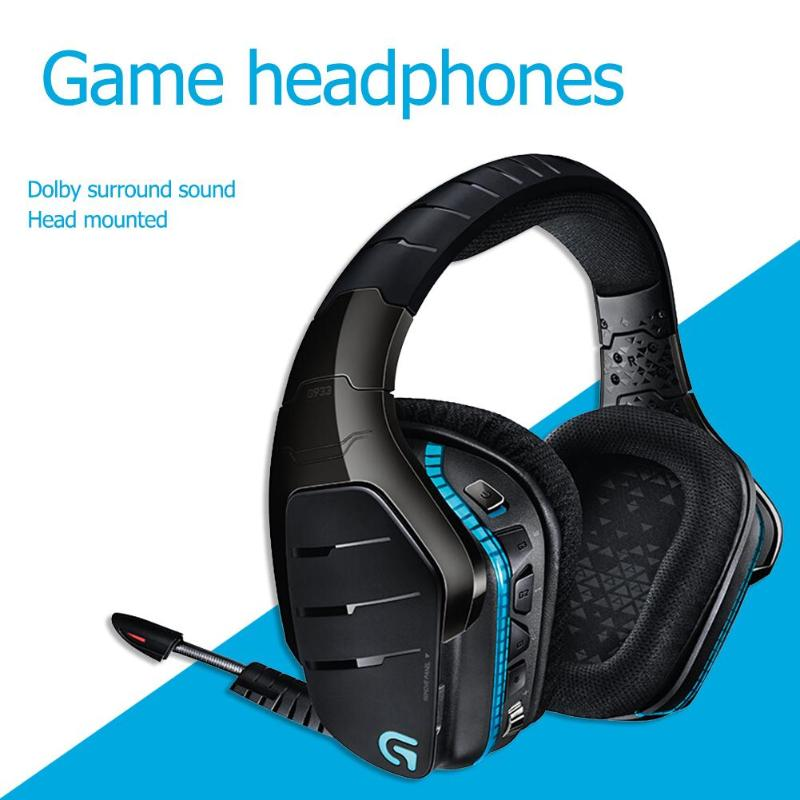 Logitech g933 artemis espectro sem fio rgb fone de ouvido x 7.1 surround som gaming headset para pc ps4 xbox um xbox