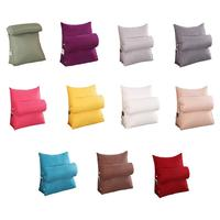 Home Textile Triangle Cushion Plain Color Pillow Cotton And Linen Backrest Office Sofa Pillow Bed Cushion