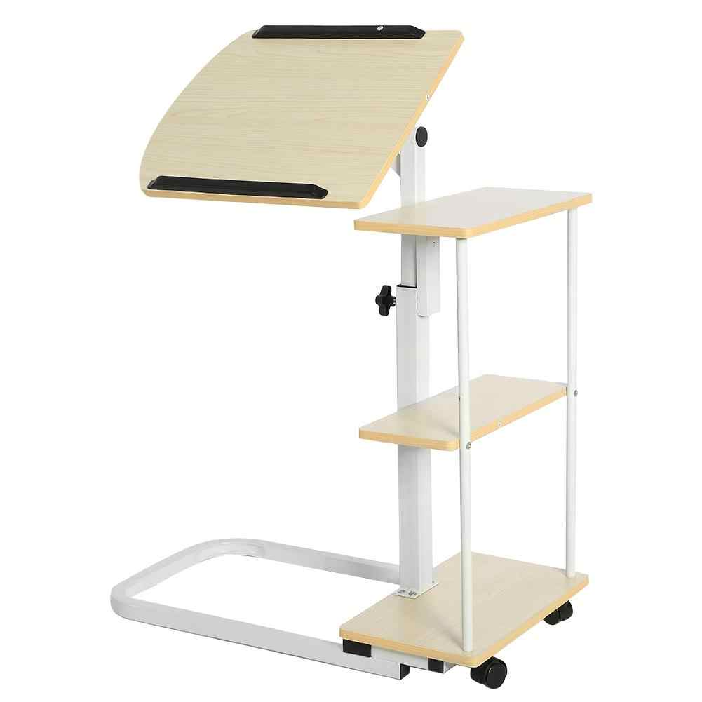 Multi-function Laptop Stand Height Adjustable Overbed/Sofa Table Laptop Cart Computer Desk with Wheels