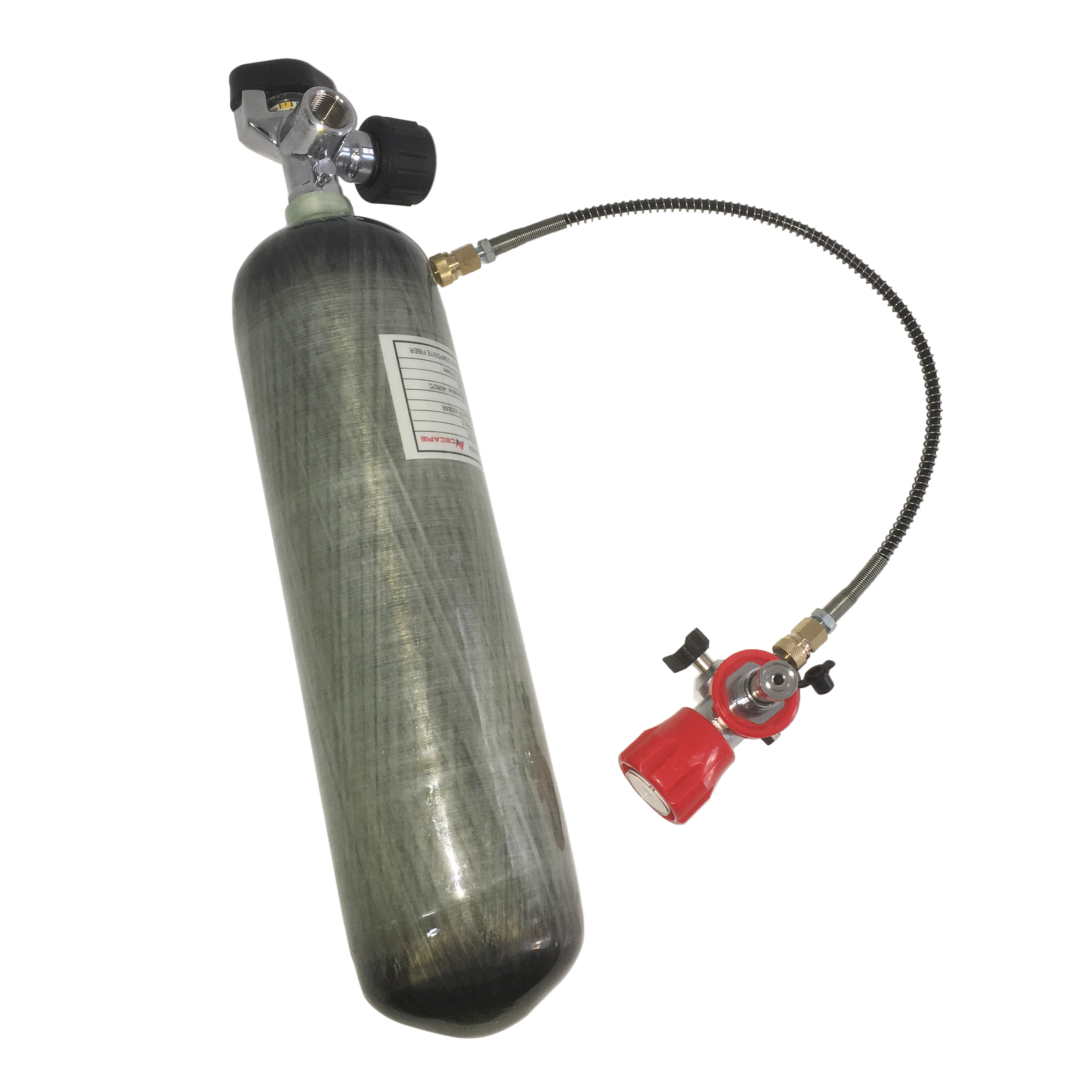 AC103201 3LCE 4500Psi Carbon Fiber Cylinder Air Softgun Paintball PCP Air Rifle Mini Tank With Valve And Fill Station Acecare