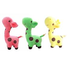 hot deal buy 18cm kids stuffed plush animals toy cute soft plush giraffe toy stuffed giraffe dolls children colorful birthday gifts baby gift