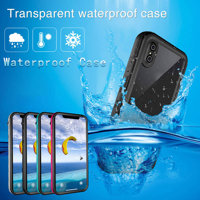 promo code 301e7 3b3e9 KISSCASE underwater case For iPhone X XR XSMAX Transparent Case 6 7 8 Plus  5 5s SE 6s waterproof fundas capa