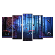 Cairnsi HD Printed 5 Piece Canvas Art Magic Forest Painting Drop Shipping Canvas Art for Living Room Home Modular Pictures Decor