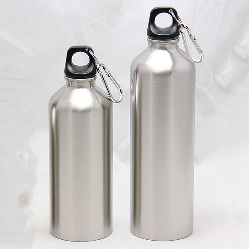 New Sliver Aluminum Water Bottles Flask Double Wall Vacuum Insulated Bottle Sports Travel Climbing Hiking Bottles 500ML & 750ML|Water Bottles| |  - AliExpress