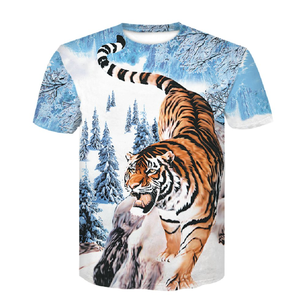 2019 new Tiger   T     shirt   Animal 3d   T  -  shirt   Punk Print   Shirts   Gothic Plus Size Mens Clothing Funny Tshirt Men Short Sleeve Big Slim