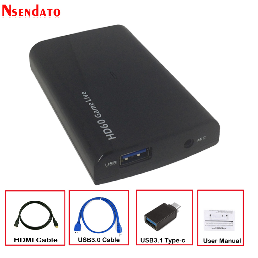 HDMI 4K Video Capture Card 1080P 60fps USB 3 0 Type C Game Video Recorder for