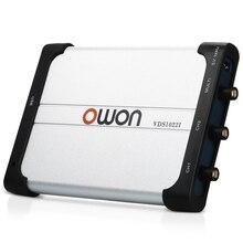 Owon VDS1022I двухканальный осциллограф осциллографы для ПК Очки виртуальной USB осциллограф 25 МГц полоса пропускания 100 м/с частота дискретизации