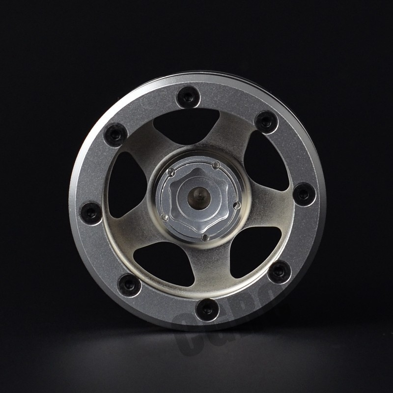 4 sztuk 1.9 cal metalowe koła Beadlock obręczy klasyczne pięć star/10 gąsienica RC samochodu Trx4 Bronco osiowe CC01 D90 D110 w Części i akcesoria od Zabawki i hobby na  Grupa 3