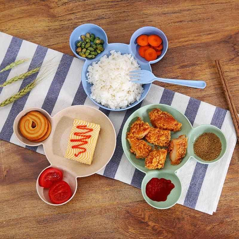 Rato dos desenhos animados Lunch Box Crianças Infantil de Alimentação Do Bebê Talheres Tigela de Arroz Tigela Lanche Prato de Frutas Pratos Recipiente de Alimento