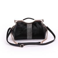 Winter New Horsehair Woman Hand Bag Metal Frame Tote Bag Shoulder Messenger Vintage Fur Crossbody Bags Leather Chain Bag